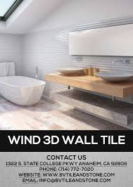 wind 3d 3 dimensional wall tile is here bv tile and
