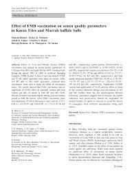 100 Fmd Casa PDF Effect Of FMD Vaccination On Semen Quality Parameters In Karan