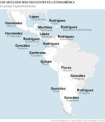 Interactivo Los apellidos más comunes de Latinoamérica