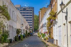 100 Mews Houses LONDON UNITED KINGDOM MAY 17 Traditional British Mews Houses