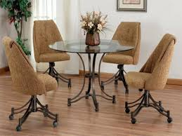 Dining Chairs ~ Dining Chair On Casters Casual Dining Chairs With ...