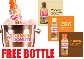 Free Bottle Of Dunkin Donuts Iced Coffee They Will Mail You A Coupon For Redeemable At Any Supermarket Or Store