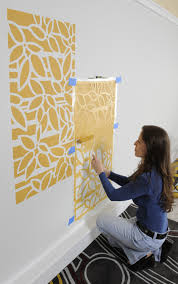 Contemporary Spaces Design By New York Paint And Wall Coverings Janna Makaeva Cutting Edge Stencils