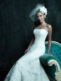 Allure Couture C243 Strapless Lace A Line Wedding Dress
