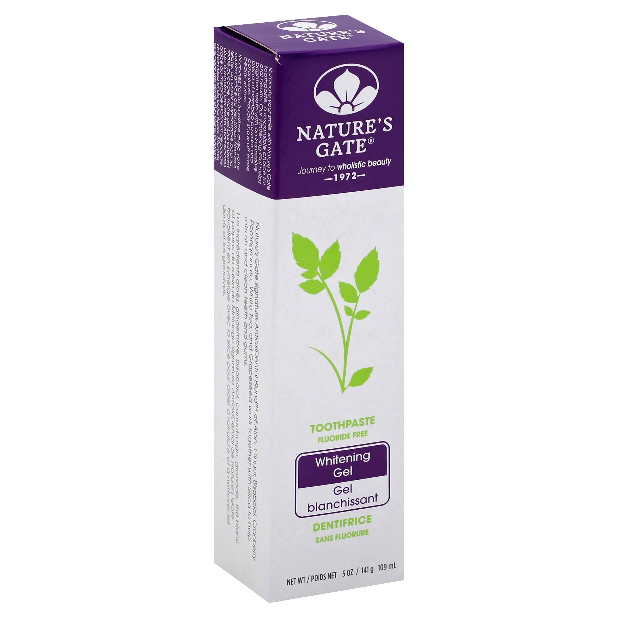 Nature's Gate Whitening Gel Toothpaste - 5oz