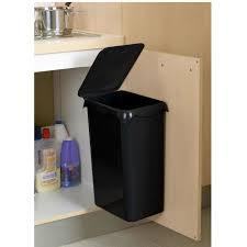 poubelle cuisine de porte poubelle de placard portasac 23 l noir achat vente