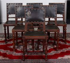 Antique Black Walnut Dining Room Set Table And Chairs ...