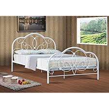 Alexis Classic 4ft6 Double white metal bed frame bedstead Amazon