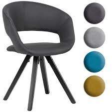 finebuy esszimmerstuhl stoff mit schwarzen beinen retro stuhl küchenstuhl mit lehne polsterstuhl maximalbelastbarkeit 110 kg