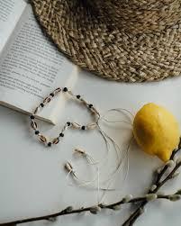 uluwatu shell choker with black pearls