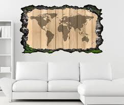 3d wandtattoo karte welt weltkarte holz effekt braun landkarte afrika map alt selbstklebend wandbild wandsticker wohnzimmer wand aufkleber 11o577