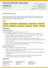 Truck Driver Resume Sample And Tips | Resume Genius Resume Objective Examples And Writing Tips Samples For First Job Teacher Digitalprotscom What To Put As On New Statement Templates Sample Objectives Medical Secretary Assistant Retail Why Important Social Worker Social Work Good Resume Format For Fresh Graduates Onepage 1112 Sample Objective Any Position Tablhreetencom Pin By On Enchanting Accounting Internship Cover Letter