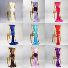 Wedding Chair Sash Buckles by 2017 New Arrival Jacquard Chair Covers For Wedding Ceremony Ribbon