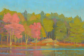 100 Brian Kiernan Landscape Oil Paintings Traces Of Fall Otter Pond By