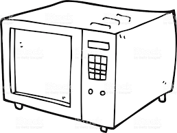 black and white cartoon microwave royalty free black and white cartoon microwave stock vector art