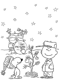 Charlie Brown And Christmas Coloring Pages For Kids Printable Free Page