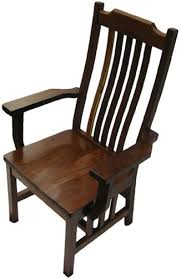 Cherry Mission Dining Room Chair With Arms