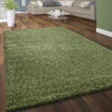 hochflor teppich kuschelig uni farben grün