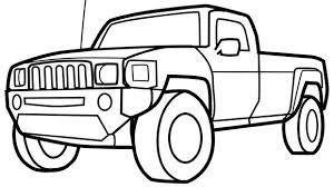 Your Grandkids Will Have Loads Of Fun With This Pickup Truck Coloring Page
