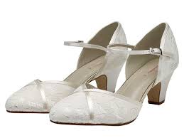 shirley classic lace court wedding shoes