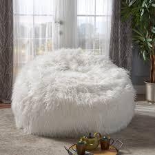 100 Furry Bean Bag Chairs For S White Wayfair