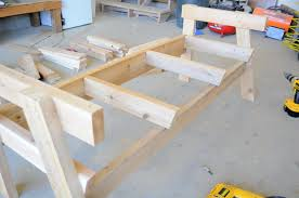 Plans For Wooden Patio Table by Free Patio Chair Plans How To Build A Double Chair Bench With Table