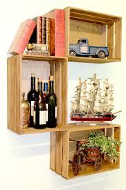 Mora Wooden Crate Accent Shelf