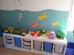 rangement jouet chambre chambre enfant de 4 ans thème mer rangement jouet