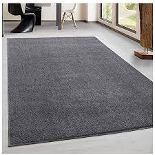 teppich kurzflor modern wohnzimmer einfarbig meliert uni günstig versch farben hellgrau 280x370 cm