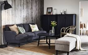 Ikea Living Room Ideas 2011 by A Living Room With A Grey Stocksund Sofa Arkelstorp Storage In