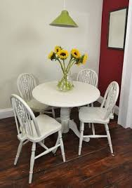 shabby chic farmhouse solid pine round table 4 mis match chairs