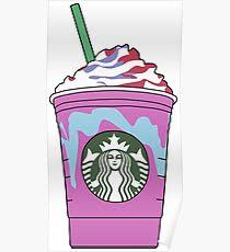 Starbucks Unicorn Frappuccino Illustration Poster