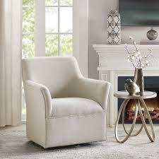 Madison Park Caddy Cream Swivel Glider Chair - 31