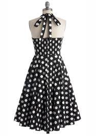 halter style vintage polka dot dress 1950s rockabilly reoria