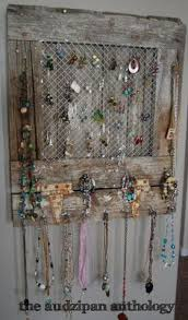 The Audzipan Anthology Reclaimed Barnwood Jewelry Holder