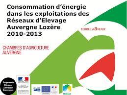 chambre d agriculture auvergne consommation d énergie dans les exploitations des réseaux d
