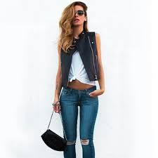 popular fashion leather vests buy cheap fashion leather vests lots