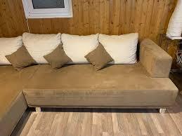 chill lounge chill braun mikrofaser 305x220cm gebr