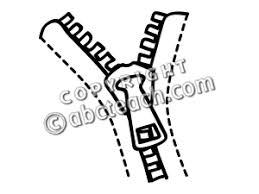 Black And White Zipper Clip Art