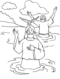 Baptism Of Jesus Coloring Page 12 Is Baptized Bible Pages Whats In The