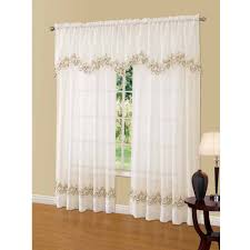Brylane Home Grommet Curtains by Better Homes And Gardens Semi Sheer Window Curtain Walmart Com