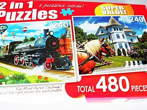 Case of 2-in-1 Jigsaw Puzzles, 480-pc. Boxes (40 Units)