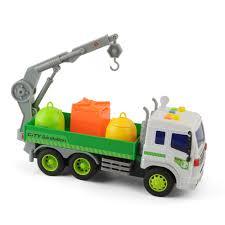 1:16 Kid Light Garbage Trash Sanitary Truck Hauling Rubbish Dumping ...