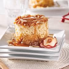 recette dessert aux pommes gâteau pouding aux pommes sauce sucre à la crème d érable