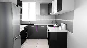 buffet de cuisine gris cuisine blanche et noir