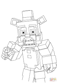 Click The Minecraft Freddy Coloring Pages To View Printable Version Or Color It Online Compatible With IPad And Android Tablets