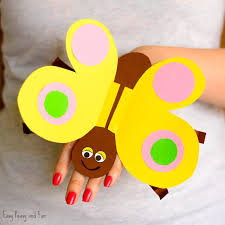 Butterfly Paper Hand Puppet Craft