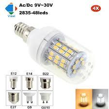 viewi 4x lada led bulb e12 e14 e27 b22 g9 gu10 12 volt bulbs