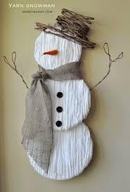DIY Yarn Snowman Tutorial On Madeinaday