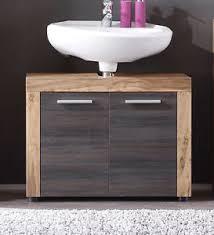 details zu waschbeckenunterschrank waschtisch unterschrank badmöbel nussbaum 70 cm cancun